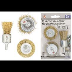 Staalborstelset  Ø 25 - 50 mm  3-dlg