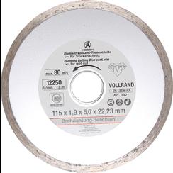 Volrand-doorslijpschijf voor natslijpen boring-Ø 22,2 mm  Ø 115 mm