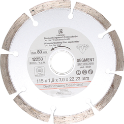Segment-doorslijpschijf  Ø 115 mm