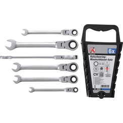 "Ratchet Combination Wrench Set  flexible Heads  Inch Sizes  1/4"" - 9/16""  6 pcs."