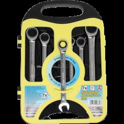 Ratchet Combination Wrench Set  8 - 19 mm  7 pcs.