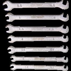Double Open End Spanner Set  mini version  3 - 5.5 mm  7 pcs.
