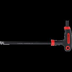 Schroevendraaier met T-greep en zijlemmet  inbus/inbus met kogelkop 10 mm