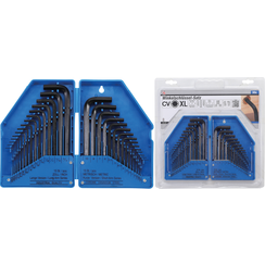 L-Type Wrench Set  Inch / Metric Sizes  internal Hexagon  30 pcs.