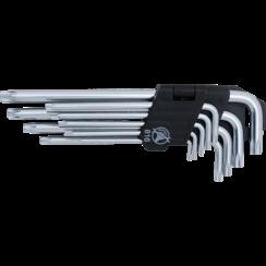 L-Type Wrench Set  long  T-Star (for Torx) T10 - T50  9 pcs.