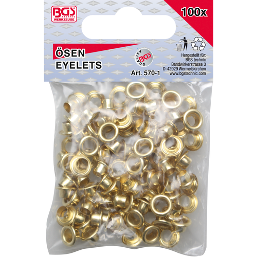 BGS - D-I-Y Assortiment oogjes  4,5 x 5,0 mm  100-dlg