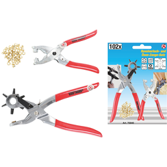 Revolving Punch Pliers and Eyelet Pliers Set  102 pcs.