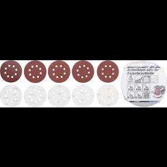 Schuurbladenset voor excentrische schuurmachine  Ø 125 mm  K 40 - 180  25-dlg