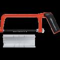 Kraftmann Aluminium Hacksaw Frame  Incl. Miter Box and Saw Blade  150 mm