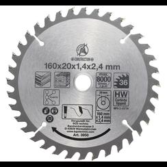 HM cirkelzaagblad  Ø 160 x 20 x 2,4 mm  36 tanden