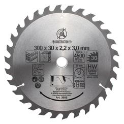 HM cirkelzaagblad  Ø 300 x 30 x 3,2 mm  30 tanden