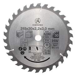 Carbide Tipped Circular Saw Blade  Ø 315 x 30 x 3.0 mm  30 teeth