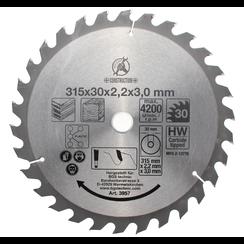 HM cirkelzaagblad  Ø 315 x 30 x 3,0 mm  30 tanden