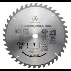 HM cirkelzaagblad  Ø 350 x 30 x 3,4 mm  40 tanden