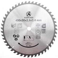 Carbide Tipped Circular Saw Blade  Ø 400 x 30 x 3.4 mm  48 teeth