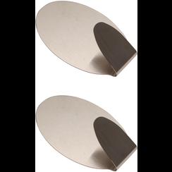 RVS-handdoekhaken  35 x 50 mm  1,0 kg  2-dlg