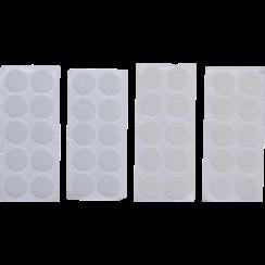 Hook & Loop Dots  self-adhesive  white  40 pcs.