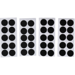 Hook & Loop Dots  self-adhesive  black  40 pcs.