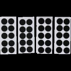 Klitpunten  zelfklevend  zwart  40-dlg