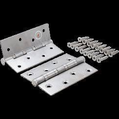 Hinge Set  Stainless Steel  100 x 40 mm  2 pcs.