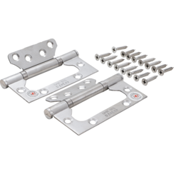 Hinge Set  Stainless Steel  for space-saving installation  100 x 50 mm  2 pcs.