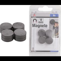 Magnet Set  ceramic  Ø 18 mm  8 pcs.