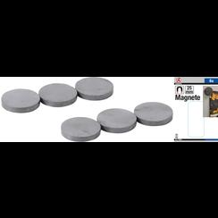 Magnet Set  ceramic  Ø 25 mm  6 pcs.