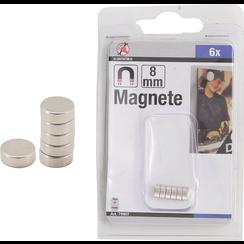 Magneetset  extra sterk  Ø 8 mm  6-dlg