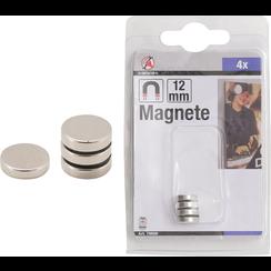 Magnet Set  extra strong  Ø 12 mm  4 pcs.