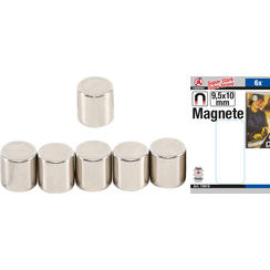 Magneetset  extra sterk  Ø 9,5 mm  6-dlg