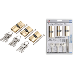 Brass Cylinder Lock  simultaneous locking  15 pcs.