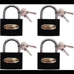 Padlock Set  simultaneous locking  Type L  35mm  4 pcs.