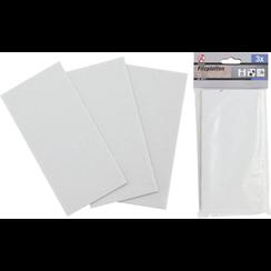 Viltglijder  platen  wit  100 x 200 mm  3-dlg.