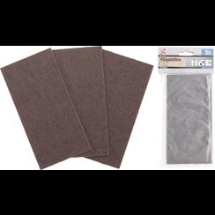 Viltglijder  platen  bruin  100 x 200 mm  3-dlg.