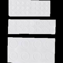 Elastic Stopper Set  transparent  46 pcs.