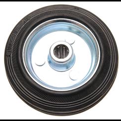 Vol rubberen wiel  stalen velg  100 mm