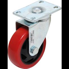 Zwenkwiel  rood/zwart  Ø 100 mm