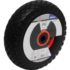 Wheel for Pushcarts/Handcarts  PU red/black  260 mm
