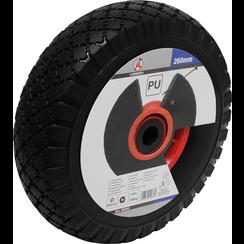 Wiel voor steekwagen/kar  PU, rood/zwart  260 mm