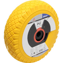 Wheel for Pushcarts/Handcarts  PU yellow/black  260 mm