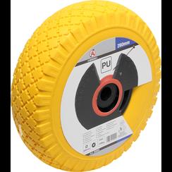 Wiel voor steekwagen/kar  PU, geel/zwart  260 mm