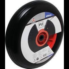 Kruiwagenwiel  PU, / rood/zwart  400 mm