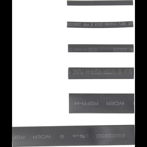 Kraftmann Assortiment krimpkous  zwart  90-dlg
