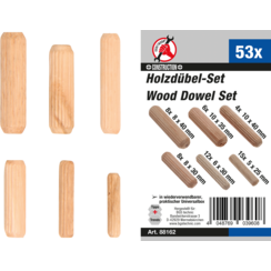 Assortiment deuvels  Ø 5 - 10 mm  53-dlg