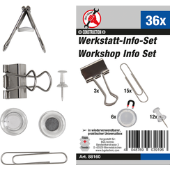 Office Set with Paper Clips, Magnets, Pin Needles  36 pcs.