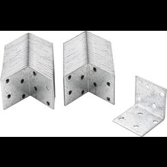 Hoekverbinder  40 x 40 x 40 x 2 mm  voordeelverpakking  50 stuks