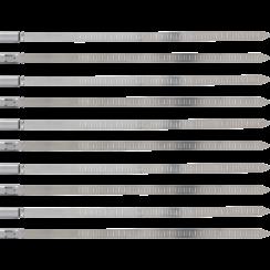 Kabelbinder-assortiment  RVS  roestvrij  7,0 x 200 mm  10-dlg