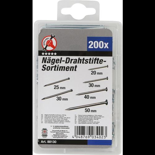 BGS - D-I-Y Assortiment draadnagels  200-dlg