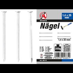 Nagel-assortiment  200 g  1,4 x 25 mm