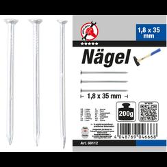 Nagel-assortiment  200 g  1,8 x 35 mm